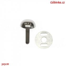 Kovová nožička na kabelky - Pecka, nikl, 12x5 mm, 1 ks