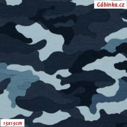 Úplet s EL POPPY - Maskáč modrý, 15x15 cm