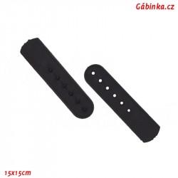 Kšiltové plastové zapínání - Černé, 1 ks