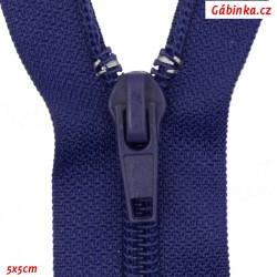 Spirálový zip dělitelný, fialově modrý