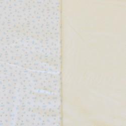 Manšestr - prací kord, pomněnky na bílé, šíře 140 cm, 10cm