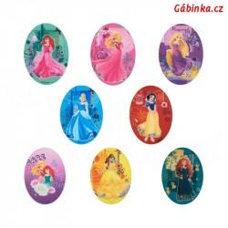 Nažehlovací záplaty Disneyovské princezny - Sada 8 ks