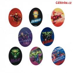 Záplaty nažehlovací Avengers - Sada 8 ks