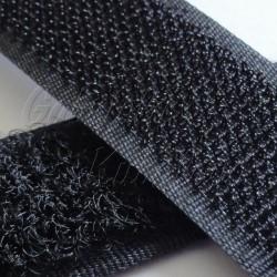 Samolepící suchý zip, černý, šíře 2cm, 10cm