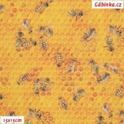 Koženka DSOFT 213 - Pilné včelky, 15x15 cm