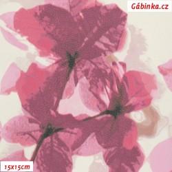 Koženka DSOFT 216 - Sakura růžová, 15x15 cm