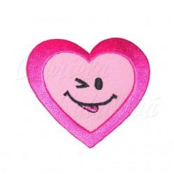 Nažehlovačka - Růžové srdíčko s úsměvem