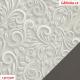 Koženka DSOFT 008 - Ornamenty na světle šedé, kombinace s koženkou SOFT 26 středně šedou