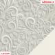 Koženka DSOFT 008 - Ornamenty na světle šedé, kombinace s koženkou SOFT 01 bílou