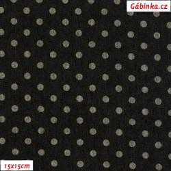 Riflovina BA/EL - Puntíky na černé, 15x15 cm