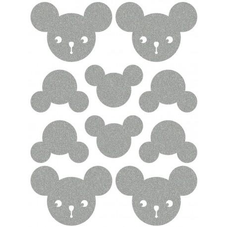Reflexní nažehlovací potisk - Myšáci (4+6 ks)