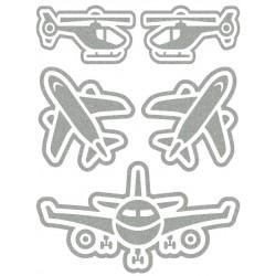 Reflexní nažehlovací potisk - Letadla (5 ks)