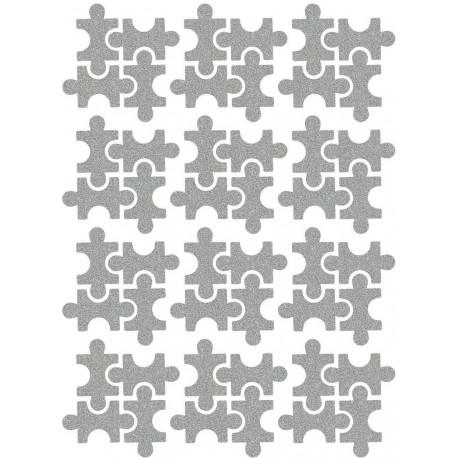 Reflexní nažehlovací potisk - Puzzle (12 ks)
