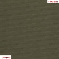 Nylon KENT fabric 532 - Khaki, 15x15 cm