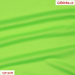 Funkční úplet CoolPass Mesh 910 - NEON zelený, 15x15 cm