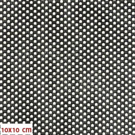 Látka, Síťovina - černá - detail 10x10cm