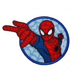 Nažehlovačka Marvel Spiderman - Na modré pavučině v kolečku