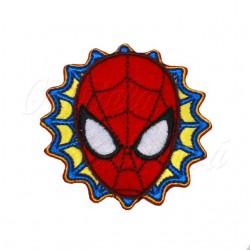 Nažehlovačka Marvel Spiderman - Velká hlava na modrožluté pavučině