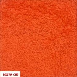 Plyš, jednobarevný - sytě oranžový 678, šíře 180 cm, 10 cm