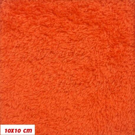 Látka plyš - sytě oranžová