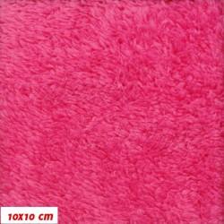 Plyš, jednobarevný - malinový 643, sytě růžová, šíře 180 cm, 10 cm