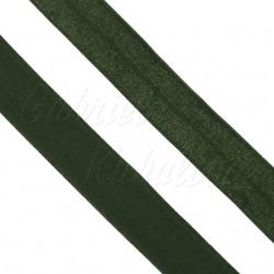 Lemovací guma půlená - 19 mm, tmavě zelená, 1 m