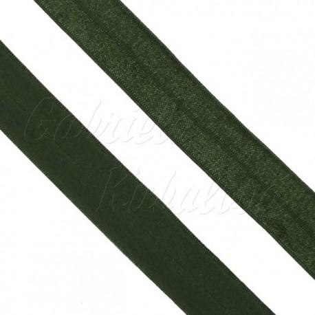Guma lemovací půlená, 19 mm, tmavě zelená