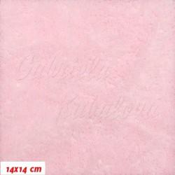 Plyš, jednobarevný - světle růžový 642, šíře 180 cm