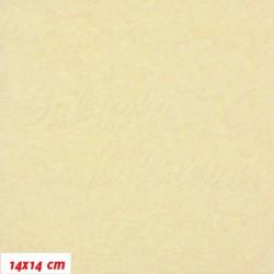 Plyš, jednobarevný - smetanový 631, šíře 180 cm, 10 cm
