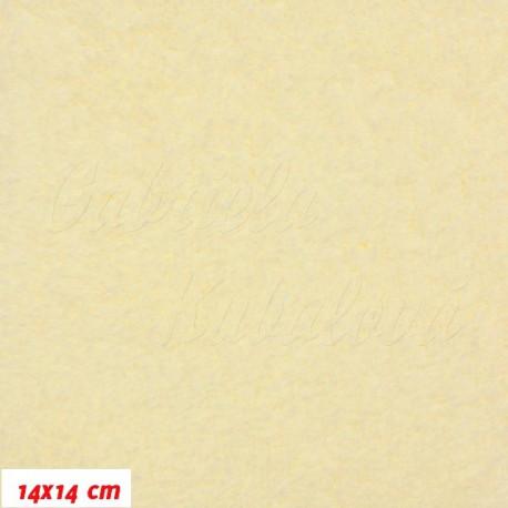 Látka, plyš, jednobarevná - smetanová, šíře 180 cm