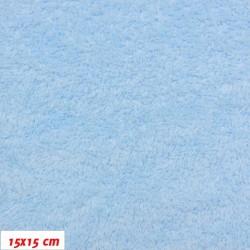 Látka, plyš, jednobarevná - světle modrá 651, šíře 180 cm
