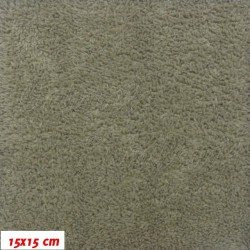 Plyš, jednobarevný - khaki 718, šíře 180 cm