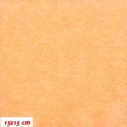 Látka, plyš, jednobarevná - světle oranžová 727, šíře 180 cm