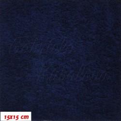 Plyš, jednobarevný - námořně modrý 616, šíře 180 cm, 10 cm