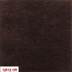 Plyš - jednobarevný, tmavě hnědý 630, šíře 180 cm, 10 cm