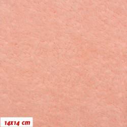 Plyš, jednobarevný - lososový 639, šíře 180 cm, 10 cm
