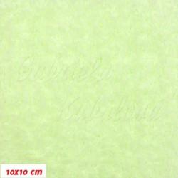Plyš, jednobarevný - světle zelený 647, šíře 180 cm, 10 cm