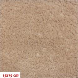 Plyš - jednobarevný oříškový 716, šíře 180 cm, 10 cm