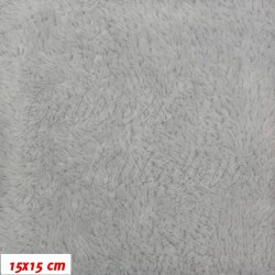 Plyš - jednobarevný světle šedý 717, šíře 180 cm, 10 cm