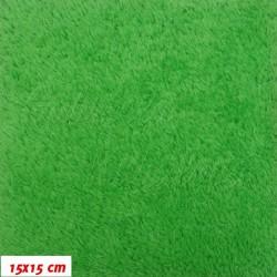 Plyš, jednobarevný - Ostře zelená 720, šíře 180 cm, 10 cm
