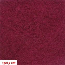 Plyš - jednobarevný, tmavě červený, b.738, šíře 180 cm, 10 cm