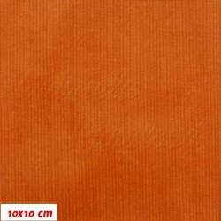 Manšestr, prací kord - elastický, oranžový, šíře 148 cm, 10 cm