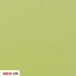 Manšestr, prací kord - elastický, světle zelený, tenký