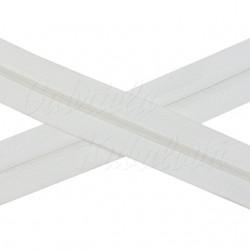 Metrový zip spirálový - bílý, šíře 3 mm, 1 m