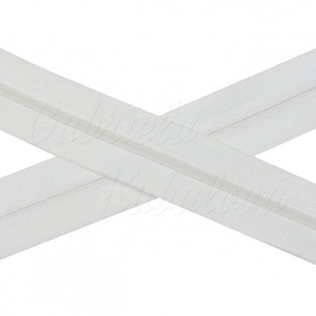 Metrový spirálový zip - bílý, 5mm