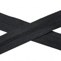 Metrový zip spirálový - černý, šíře 3 mm, 1 m