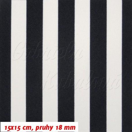 Kočárkový šusťák, Černé a bílé pruhy