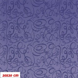 Prošívaný šusťák - ornamenty na fialové