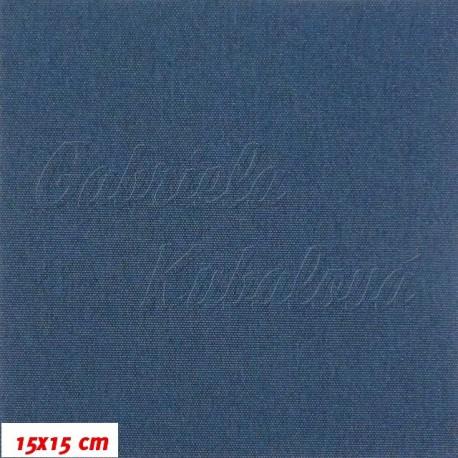 Kočárkovina MAT J55 - Modrá jeans, 15x15cm
