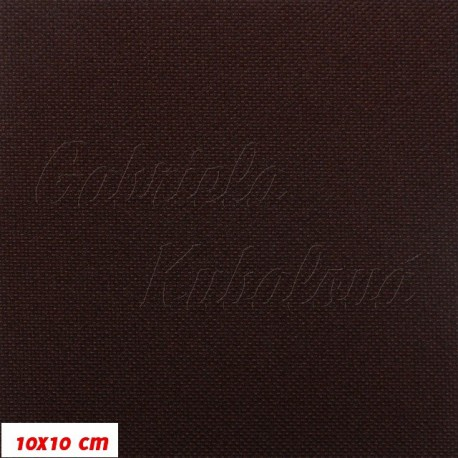 Kočárkovina MAT 195 tmavě hnědá, 10x10 cm